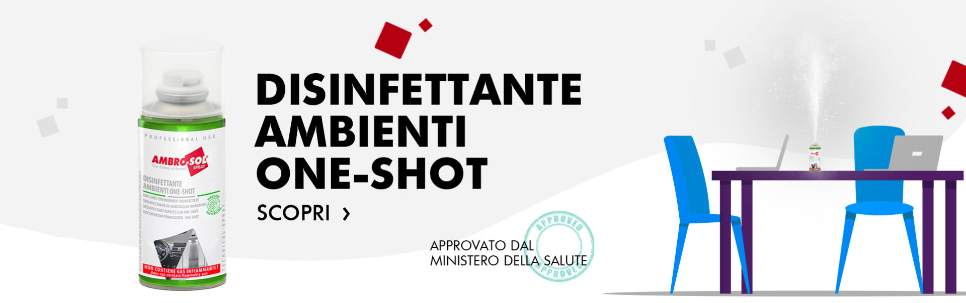disinfettante ambienti one-shot A467D ambrosol